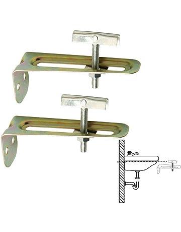 LIKERAINY 90 Grado Soporte de /ángulo Escuadras Acero Inox Forma de L Soporte de Esquina 80x80x19mm Para Conectores de Silla de Estanter/ía de Muebles Corner Brace 18 Pieces