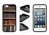 Book Shelf - Phone Case Back Cover (iPhone 5 5s - TPU Rubber Silicone) comes with Security Tag and MyPhone Designs(TM) Cleaning Cloth
