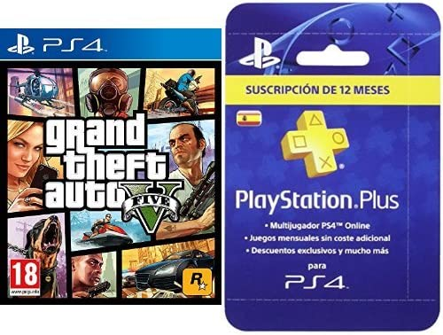 Grand Theft Auto V (GTA V) + PlayStation Plus - Tarjeta de ...