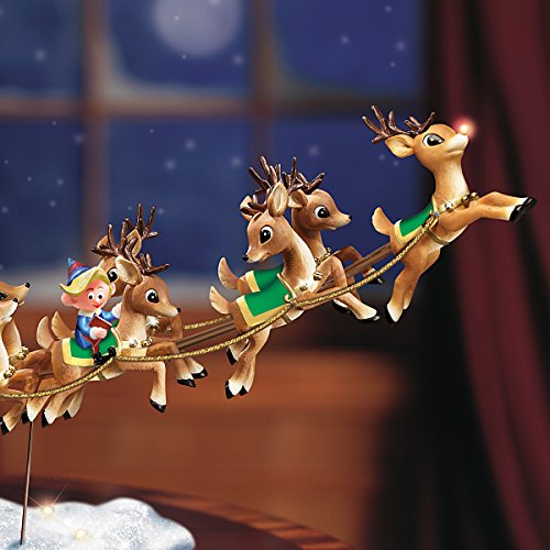 Rudolph the Red-Nosed Reindeer Sculpture: Lighted Musical Holiday Decoration by The Bradford Exchange by Bradford Exchange (Image #4)
