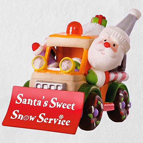 ristmas Ornament 2018 Year Dated, Santa's Sweet Snow Plow with Music and Light ()
