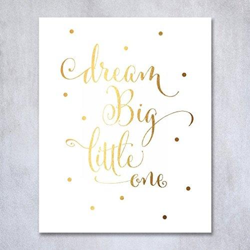 Little Nursery Calligraphy Metallic Poster product image