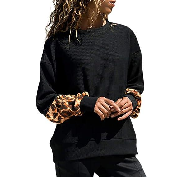 Amazon.com: DaySeventh Womens Leopard Print Long Sleeve Pullover Blouse Shirts Sweatshirt 2XL: Home & Kitchen
