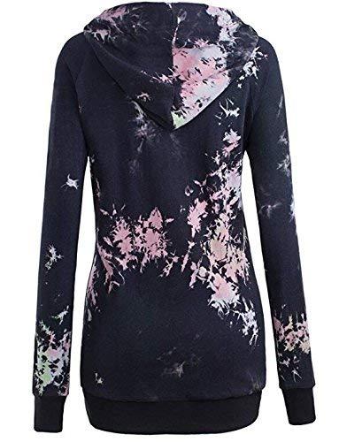 Felpa Pullover Autunno Donna Moda Elegante 1 Classiche Manica Stampato Con Felpe Black Casual Cappuccio Vintage Primaverile Mujeres Lunga EtdHqngqFw