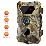AIMTOM T903 Trail Game Cameras, 16MP 1080P Stealthy Hunting Cam, 2.4'' Screen 2Pcs No Glow IR Night Vision, 0.3S Faster Trigger IP56 Waterproof for Outdoor Hunting, Wildlife Monitoring, Home Security