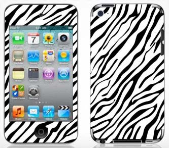 - Zebra Print Pattern Skin for Apple iPod Touch 4G 4th Generation