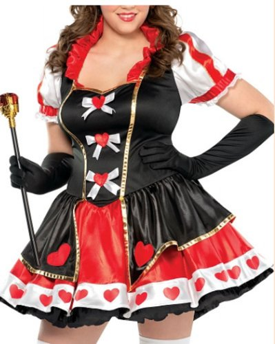 Party Costume Red City Queen (Charmed Queen of Hearts Costume - Plus Size - Dress Size)