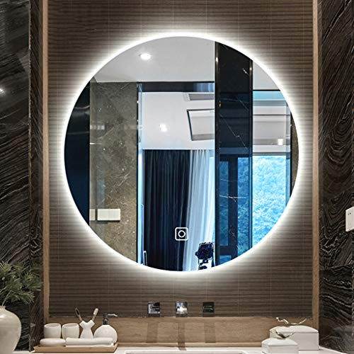 Wall-Mounted Vanity Mirrors Illuminated LED Bathroom Mirror with Light Vanity Light Touch - Bathroom Led Demister Illuminated Sensor Mirrors