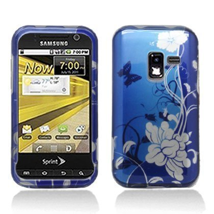 Aimo Wireless SAMR920PCIMT070 Hard Snap-On Image Case for Samsung Galaxy Attain 4G R920 - Retail Packaging - Blue/Flowers (Samsung Galaxy Attain 4g Case)