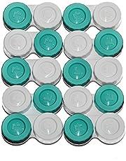 Sports Vision Contactlenzenhouder - 10 stuks contactlenzenhouder met schroefsluiting plat design vervaardigd in Groot-Brittannië gemarkeerd R & L
