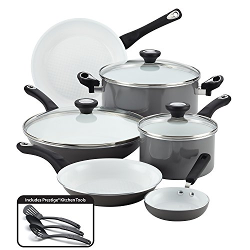 Farberware PURECOOK Ceramic Nonstick Cookware 12-Piece Pots and Pans Cookware...
