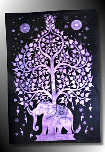 Cortinas-- -Cortinas de pared, diseño de elefante indio étnico-punto de