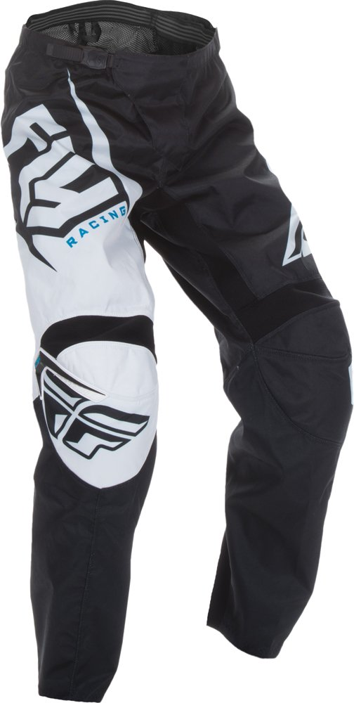 Fly Racing Unisex-Adult F-16 Pants (Black/White, Size 46)