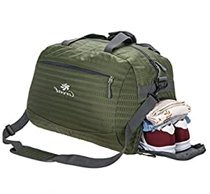Coreal Duffel Bag Backpack Sport Travel Gym Luggage Baggage with Shoes Compartment Sepration Sections Contain Cloths for Women & Men (Army Green)