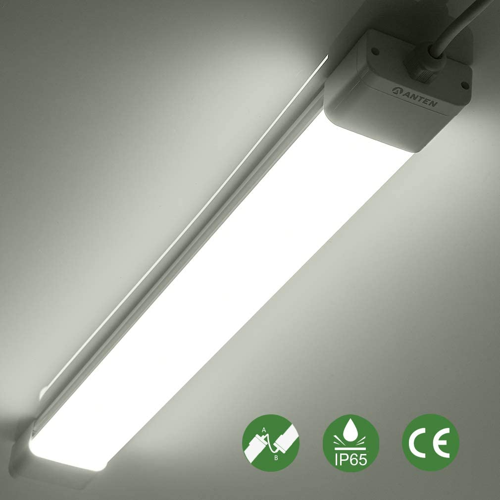 36 W, para s/ótano o garaje L/ámpara LED ultrafina para entornos h/úmedos Set de fijaci/ón. Anten 1 unidad