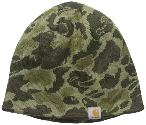 Carhartt Men's Montgomery Reversible Hat, Burnt Olive Camo, One ()