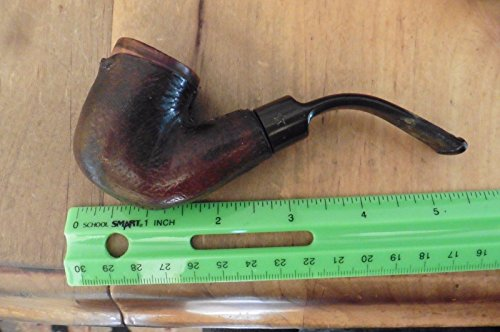 Bolton Pipe leather Vintage made in Belgium Estate best briar pipe wooden burl