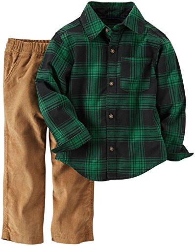 Carters 2 Piece Outfit (Carter's Baby Boys 2 Pc Playwear Sets 229g270, Plaid,)