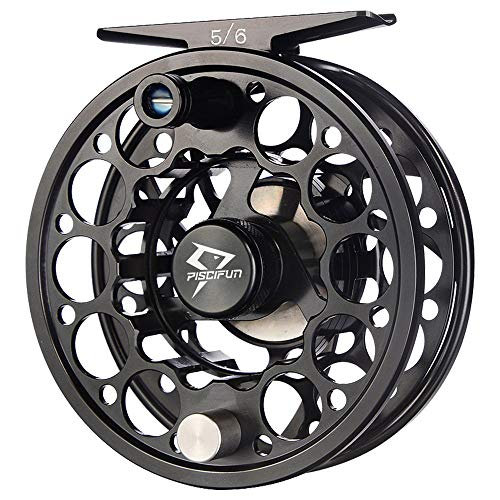 Piscifun Sword Fly Fishing Reel with CNC-machined Aluminum Alloy Body 9/10 Black