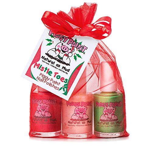 Piggy Paint Nail Polish Gift Set, Mistletoes (Red Non Toxic Nail Polish compare prices)