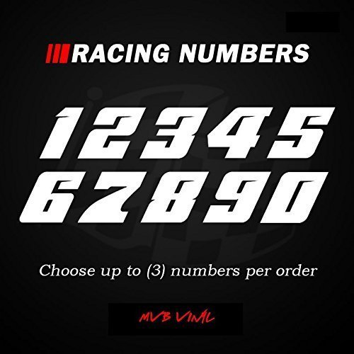 Racing Numbers Vinyl Decal Sticker 0502 - Plate Numbers Style 5