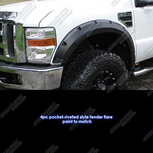 Fords the best amazon price in savemoney pocket riveted style abs black fender flares 4pcs for 2008 2010 ford fandeluxe Gallery