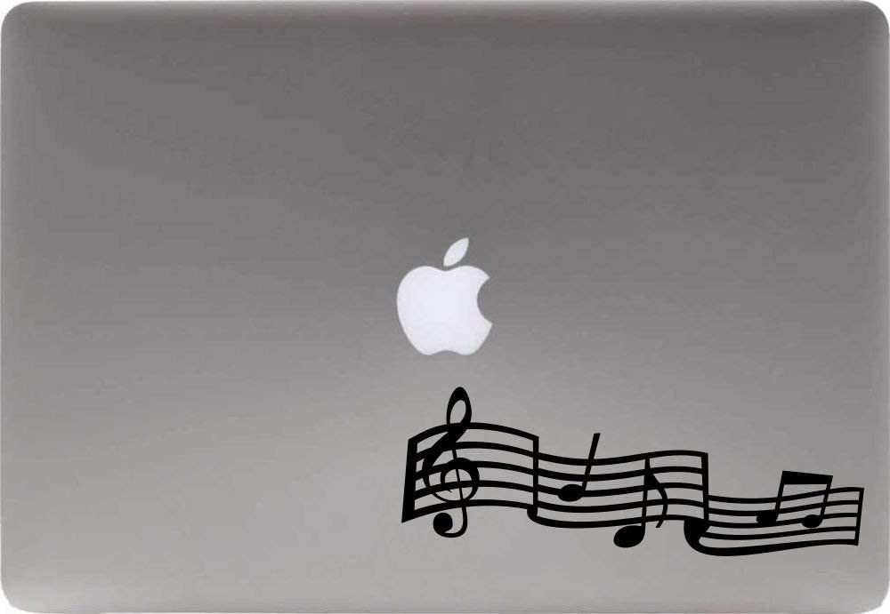 Music Note Version 1 Vinyl Decal Sticker for Computer MacBook Laptop Ipad Electronics Home Window Custom Walls Cars Trucks Motorcycle Automobile and More (Black)