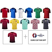 Euro Cup 2016-17 Adult Mens Soccer Jerseys – All Euro Cup Countries – All Mens Sizes M L XL by iSport Gifts®