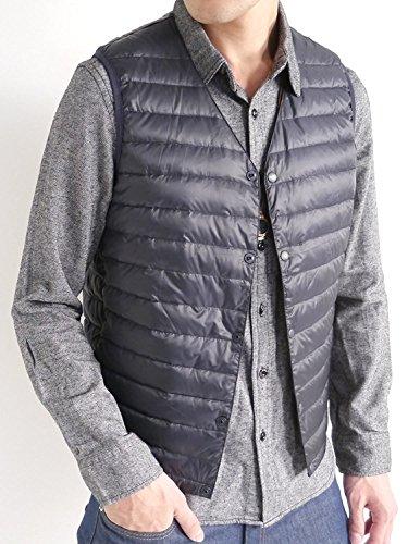 (オークランド)Oaklandインナーダウンフェザー防寒スタイリッシュ暖レイヤード毛メンズネイビーLサイズ