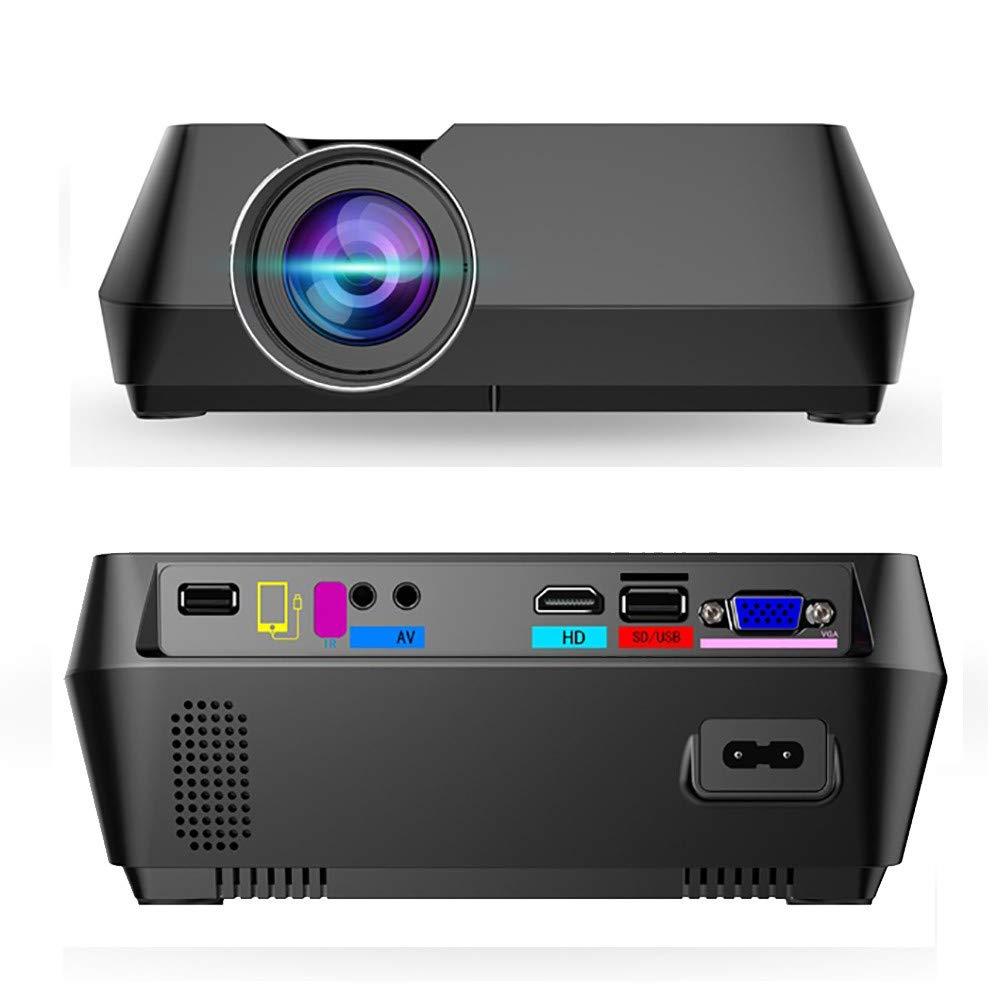 S8有線ポータブルミニプロジェクタープロジェクタースクリーンはWIFIビームよりも安定しています B07RW4T22V