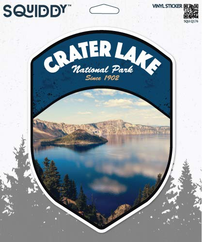 Squiddy Crater Lake Oregon National Park - Vinyl Sticker Decal for Phone, Laptop, Water Bottle (3