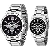 Viomy GL11003 Analogue Black Dial Unisex Watch - Combo Pack