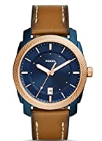 Fossil Men's 42mm Machine Watch with Leather Strap