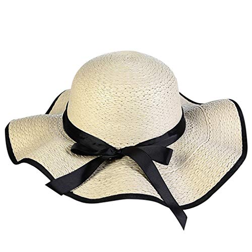 - Summer Beach Sun Hats for Women UPF Woman Foldable Floppy Travel Packable UV Hat Poll Up Wide Brim Hat Beige