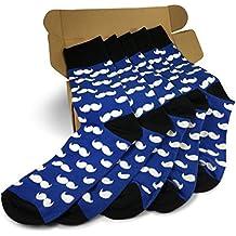 Men's Matching Socks   Groomsmen Weddings Party Event   Gala Mustache Collection