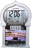Auto Islamic Azan Clock with Qibla Direction QAC-801 (Silver Color)