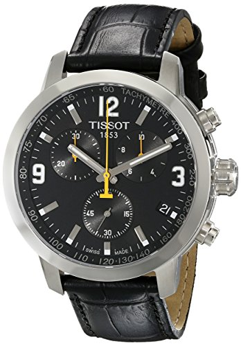tissot-mens-tist0554171605700-prc-200-chronograph-stainless-steel-watch-with-black-leather-band