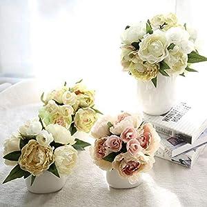 XGM GOU Wedding Bouquet Silk Flowers Peony Popular Wedding Flower Bridesmaid Bridal Bouquet 28
