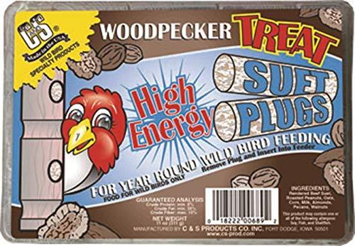 C&S 12689 Woodpecker Treat High Energy Suet, 11-Ounce