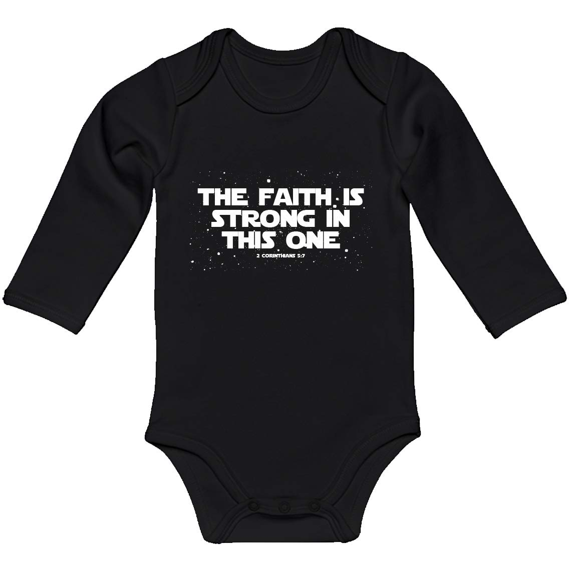 Baby Onesie The Faith is Strong in This One 100/% Cotton Long Sleeve Infant Bodysuit