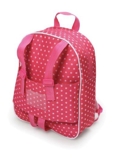 Badger Basket Doll Travel Backpack - Star Pattern (fits American Girl dolls) -