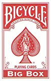 Big Bicycle ''Big Box'' 4.5'' x 7'' Playing Cards (One RED Deck)