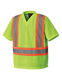 Pioneer V1050460-L High Visibility Safety T Shirt, Traffic, Green, Large