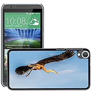 Hot Style Cell Phone PC Hard Case Cover // M00129451 Flying Blue Heron Bird Fly Wings // HTC Desire 820