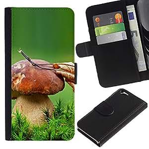 KLONGSHOP // Tirón de la caja Cartera de cuero con ranuras para tarjetas - Gran Seta - Apple Iphone 6 //