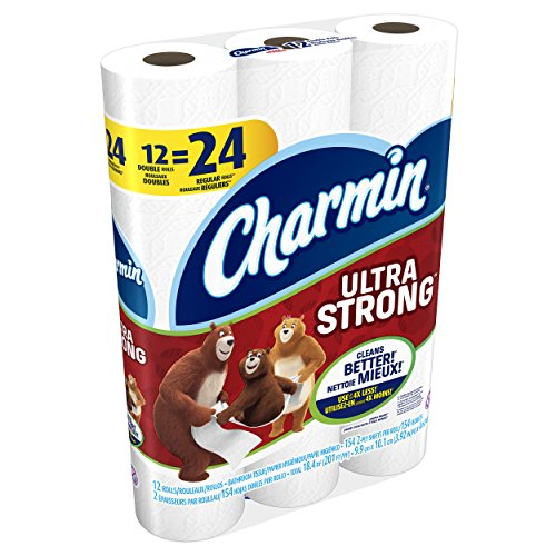 Regular Roll Toilet Paper (Charmin Ultra Strong Toilet Paper, Double Roll, 12 Count)