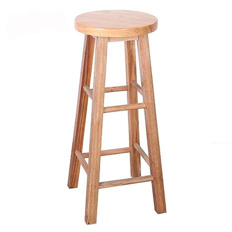 Groovy Amazon Com Bar Stool Solid Wood Bar Stools High Stool Bar Spiritservingveterans Wood Chair Design Ideas Spiritservingveteransorg