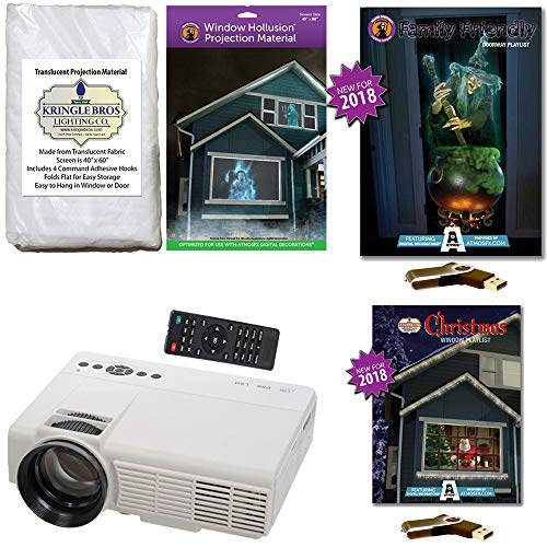 AtmosFearFx Christmas and Halloween Projector Kit Includes 1200