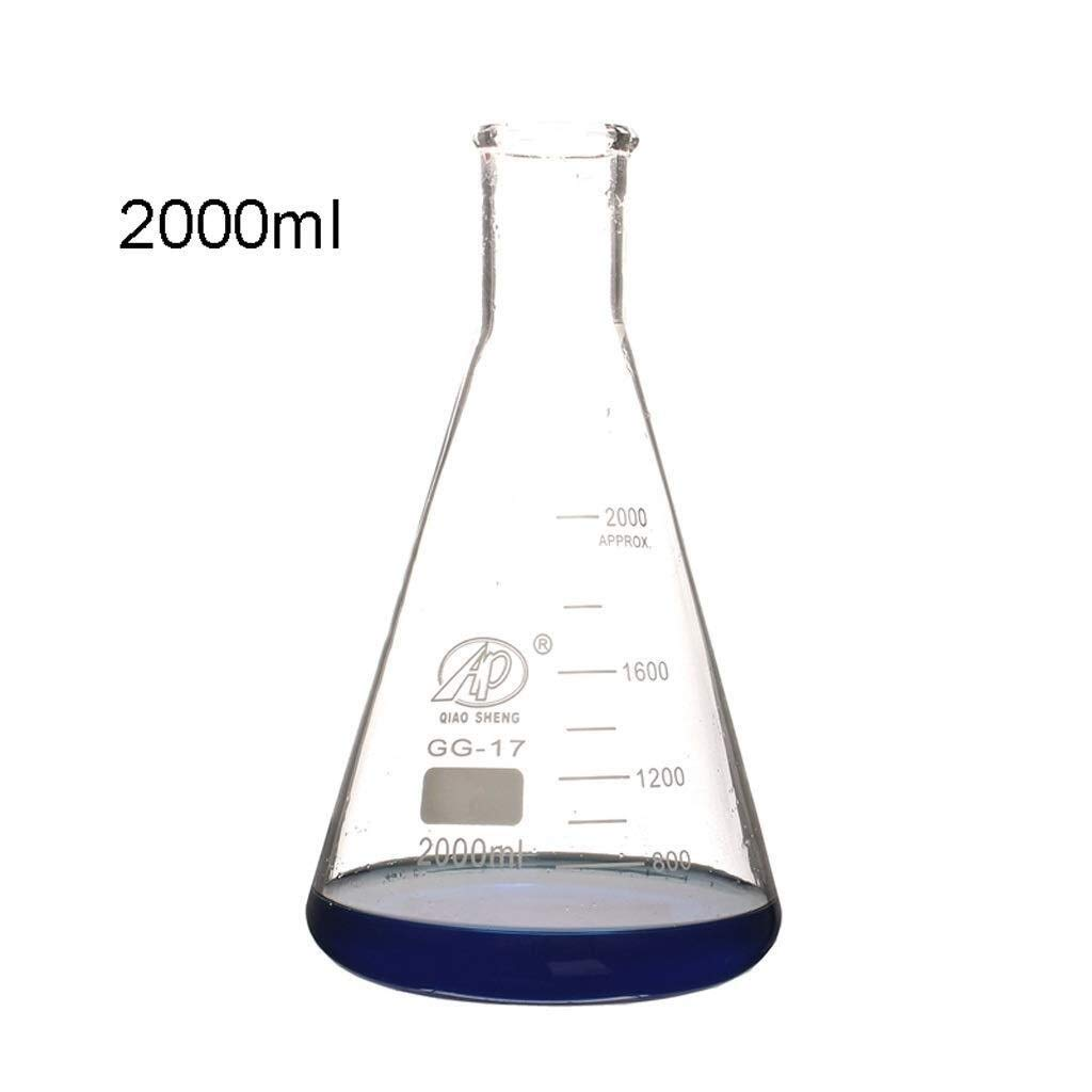 Wyyggnb Laboratory Equipment Glass Product Flat Bottom Flask Chemical Laboratory Equipment with Tapered Cone Measuring Cup High Manganese Silicon Material by Wyyggnb