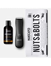 Manscaped Refining The Gentleman Perfect Package 2.0 Kit Contains: Electric Trimmer, Ball Deodorant, Body Wash, Performance Spray-On-Body Toner, Five Piece Nail Kit, Luxury Bag, Shaving Mats